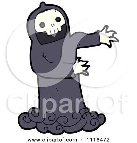 Clipart Halloween Spook Skull Ghost 6 - Royalty Free Vector Illustration by lineartestpilot