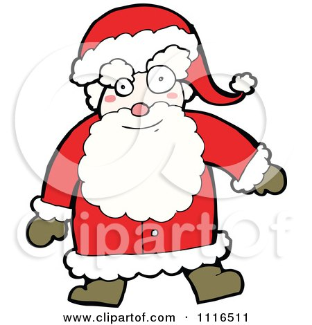 Clipart Christmas Santa Claus 4 - Royalty Free Vector Illustration by lineartestpilot
