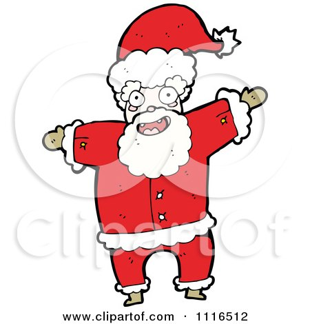 Clipart Christmas Santa Claus 5 - Royalty Free Vector Illustration by lineartestpilot
