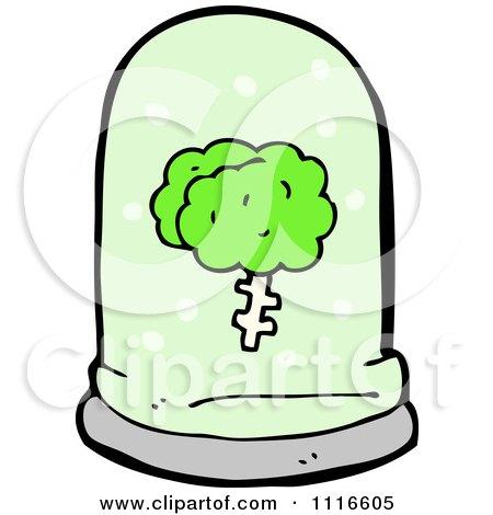 Clipart Green Brain Floating In A Specimen Jar 3 - Royalty Free Vector Illustration by lineartestpilot