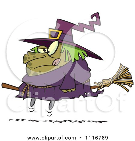 Halloween Fat Witch On A Broomstick Posters, Art Prints