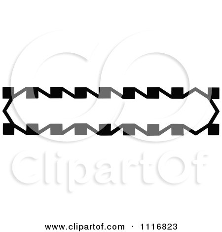 Clipart Of A Retro Vintage Black And White Banner Border Sign 6 - Royalty Free Vector Illustration by Prawny Vintage
