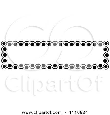 Clipart Of A Retro Vintage Black And White Banner Border Sign 5 - Royalty Free Vector Illustration by Prawny Vintage