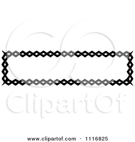 Clipart Of A Retro Vintage Black And White Banner Border Sign 4 - Royalty Free Vector Illustration by Prawny Vintage