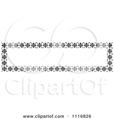 Clipart Of A Retro Vintage Black And White Banner Border Sign 3 - Royalty Free Vector Illustration by Prawny Vintage
