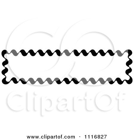 Clipart Of A Retro Vintage Black And White Banner Border Sign 2 - Royalty Free Vector Illustration by Prawny Vintage