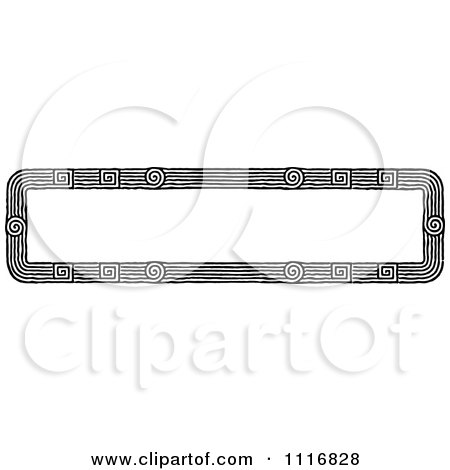Clipart Of A Retro Vintage Black And White Banner Border Sign 1 - Royalty Free Vector Illustration by Prawny Vintage