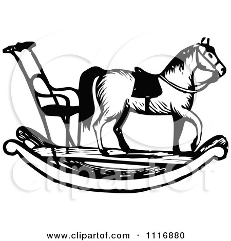 Royalty Free Rf Rocking Horse Clipart Illustrations