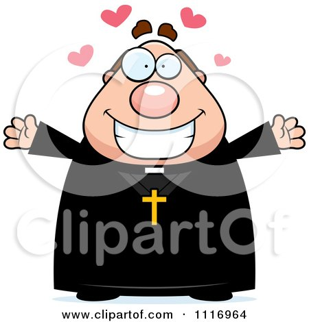 Vector Cartoon Loving Priest - Royalty Free Clipart Graphic by Cory Thoman