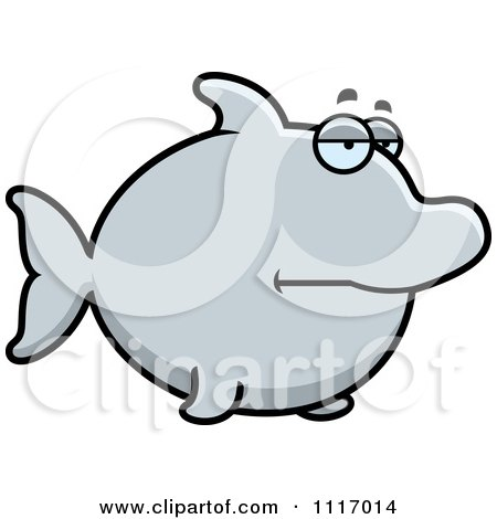 Vector Cartoon Bored Dolphin - Royalty Free Clipart Graphic by Cory Thoman