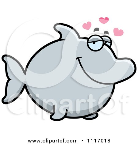 Vector Cartoon Amorous Dolphin In Love - Royalty Free Clipart Graphic by Cory Thoman