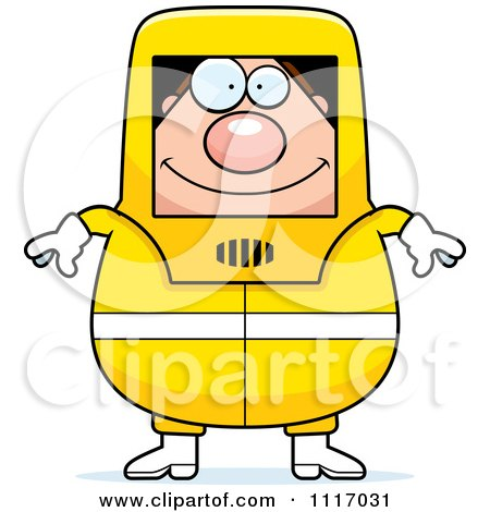 Vector Cartoon Hazmat Hazardous Materials Removal Worker - Royalty Free Clipart Graphic by Cory Thoman