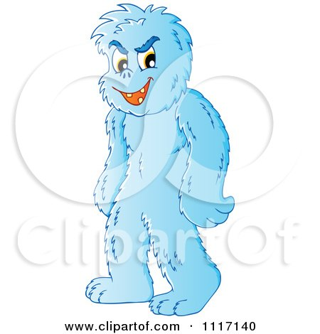 Vector Cartoon Of A Standing Yeti - Royalty Free Clipart Graphic by visekart