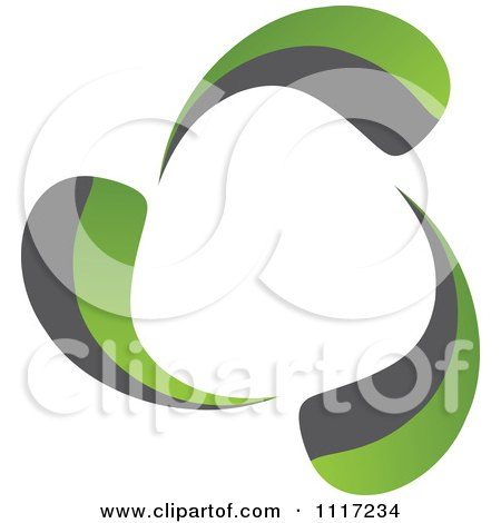 Vector Clipart Of A Green And Black Green Energy Recycle Icon 2 - Royalty Free Graphic Illustration by Andrei Marincas