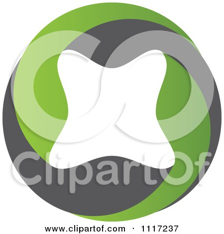 Vector Clipart Of A Green And Black Green Sustainable Energy Icon 5 - Royalty Free Graphic Illustration by Andrei Marincas