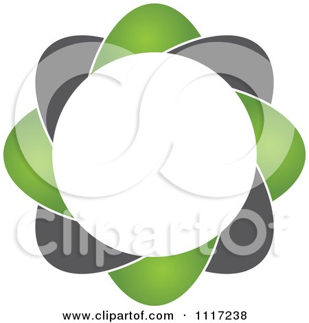 Vector Clipart Of A Green And Black Green Sustainable Energy Icon 4 - Royalty Free Graphic Illustration by Andrei Marincas
