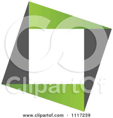 Vector Clipart Of A Green And Black Green Sustainable Energy Icon 3 - Royalty Free Graphic Illustration by Andrei Marincas