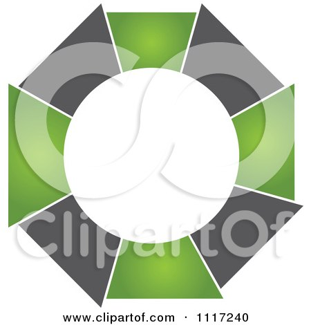 Vector Clipart Of A Green And Black Green Sustainable Energy Icon 2 - Royalty Free Graphic Illustration by Andrei Marincas