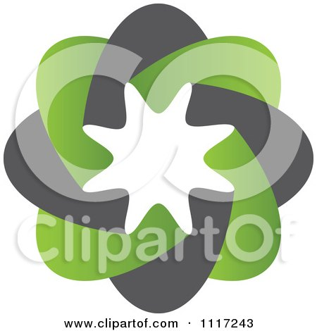 Vector Clipart Of A Green And Black Green Sustainable Energy Icon 1 - Royalty Free Graphic Illustration by Andrei Marincas