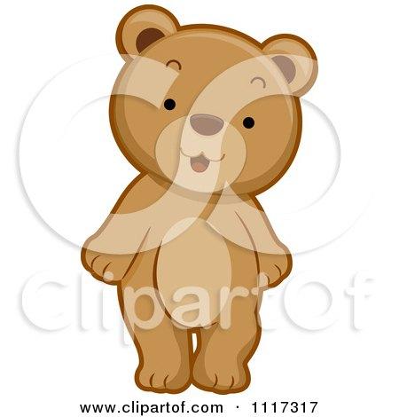 Cartoon Of A Cute Bear Standing - Royalty Free Vector Clipart by BNP Design Studio