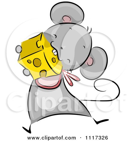 Cute Mouse Wearing A Bib And Eating Cheese Posters, Art Prints