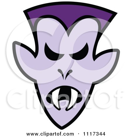 Cartoon Of A Halloween Vampire With An Angry Expression - Royalty Free Vector Clipart by Zooco