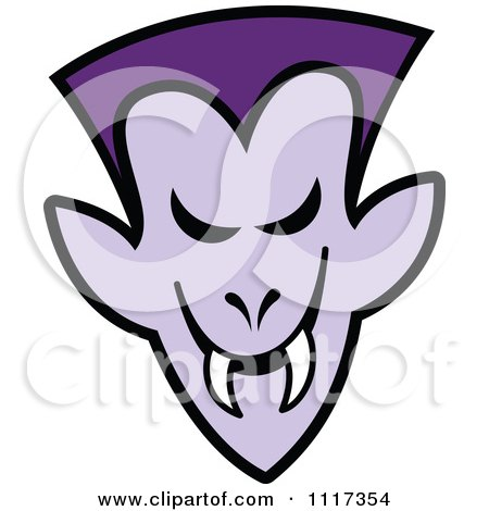 Cartoon Of A Halloween Vampire With A Naughty Grin - Royalty Free Vector Clipart by Zooco