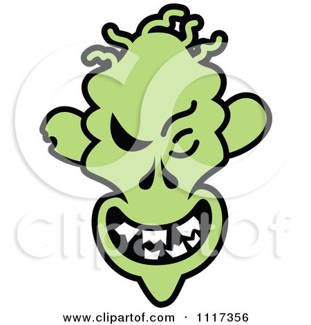 Cartoon Of A Halloween Zombie With A Naughty Grin - Royalty Free Vector Clipart by Zooco