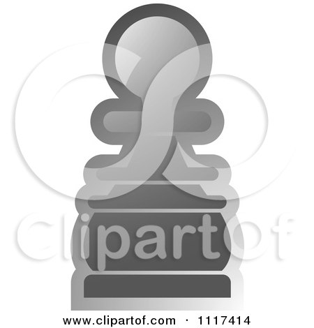 Clipart Of A Gray Pawn Chess Piece - Royalty Free Vector Illustration by Lal Perera