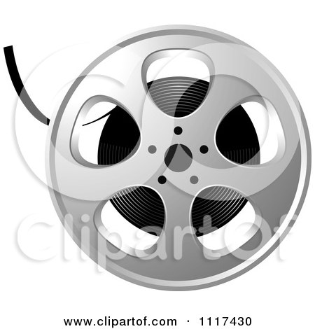 Clipart Of A Movie Film Reel - Royalty Free Vector Illustration by Lal Perera