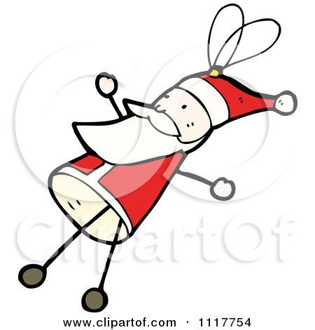 Cartoon Xmas Santa Claus Ornament 1 - Royalty Free Vector Clipart by lineartestpilot