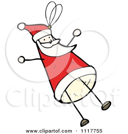 Cartoon Xmas Santa Claus Ornament 2 - Royalty Free Vector Clipart by lineartestpilot