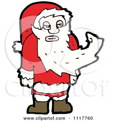 Cartoon Happy Xmas Santa Claus 7 - Royalty Free Vector Clipart by lineartestpilot