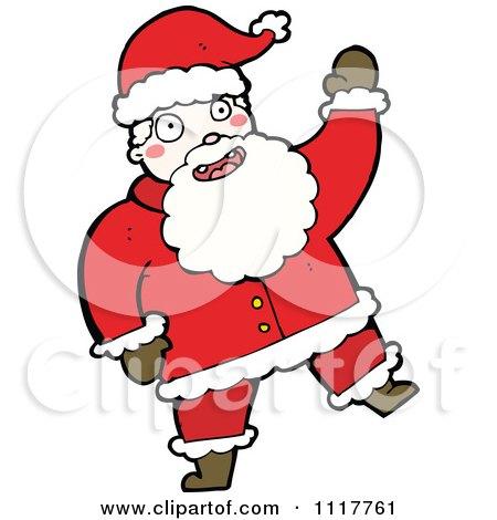 Cartoon Happy Xmas Santa Claus 8 - Royalty Free Vector Clipart by lineartestpilot