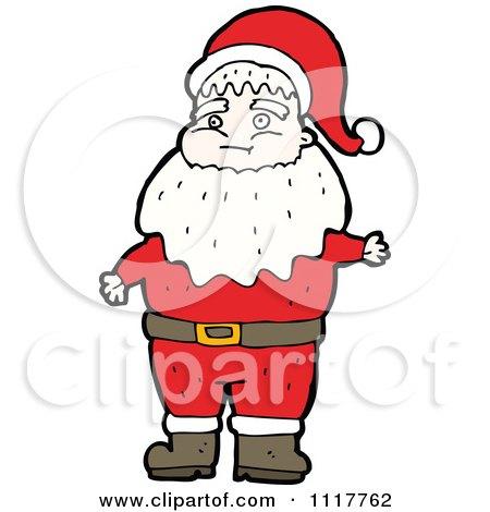 Cartoon Happy Xmas Santa Claus 9 - Royalty Free Vector Clipart by lineartestpilot