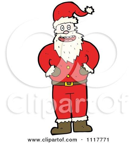 Cartoon Happy Xmas Santa Claus 10 - Royalty Free Vector Clipart by lineartestpilot