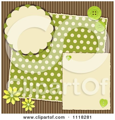 Clipart Of A Halloween Bunting Scrapbook Page With Corrugated ...