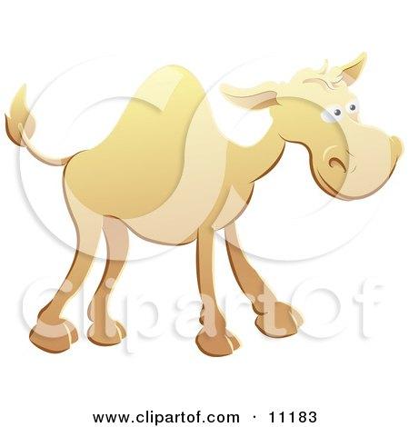 Cute Yellow Camel Clipart Illustration by AtStockIllustration