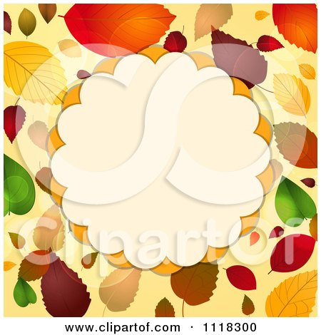 Fall Border Illustrations Autumn Border of Fall Leaves
