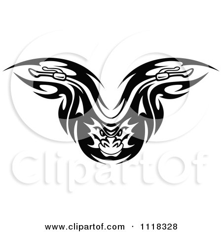 Clipart Of A Black And White Flaming Demon Motorcycle Biker Handlebars 2 - Royalty Free Vector Illustration by Vector Tradition SM