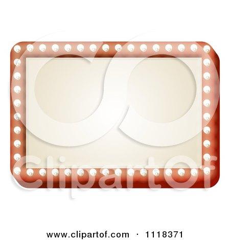 Clipart Of A Light Bulb Framed Sign - Royalty Free Vector Illustration by AtStockIllustration