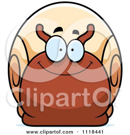 Cartoon Of A Happy Snail - Royalty Free Vector Clipart by Cory Thoman