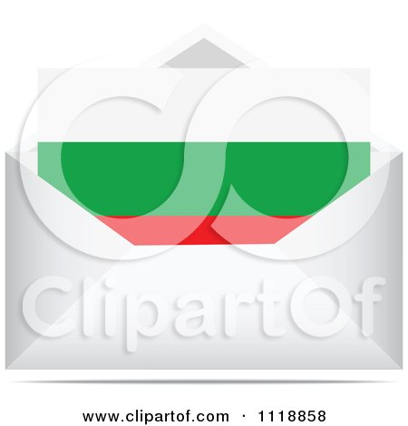 Clipart Of A Bulgarian Letter In An Envelope - Royalty Free Vector Illustration by Andrei Marincas