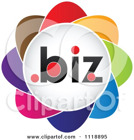 Clipart Of A Colorful Dot Biz Icon - Royalty Free Vector Illustration by Andrei Marincas