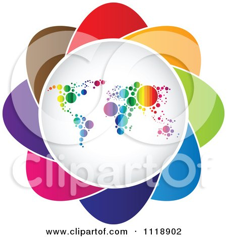 Clipart Of A Colorful Atlas Icon - Royalty Free Vector Illustration by Andrei Marincas