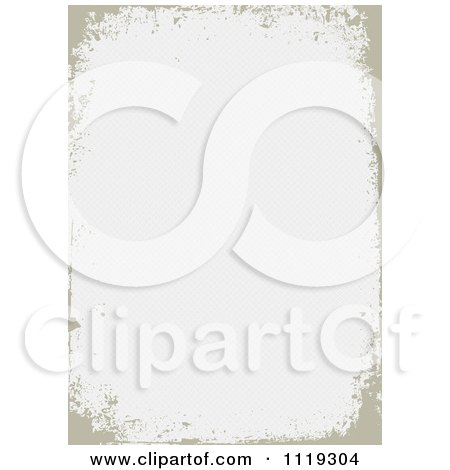Clipart Of A Grungy Distressed Tan Border With Copyspace - Royalty Free Vector Illustration by BestVector