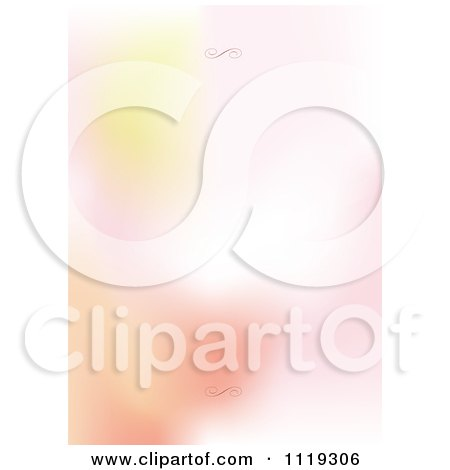 Clipart Of A Blurred Gradient Background With Swirls On The Top And Bottom - Royalty Free Vector Illustration by BestVector