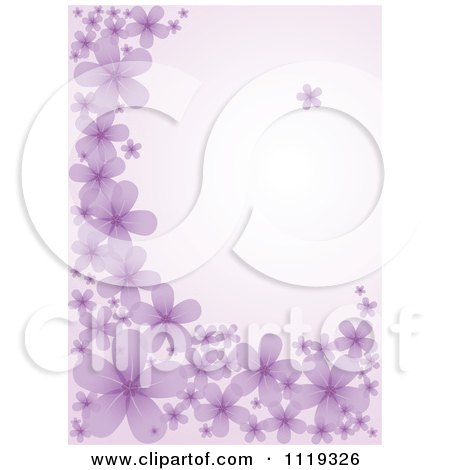 Clipart Of A Purple Background With Flowers - Royalty Free Vector Illustration by BestVector