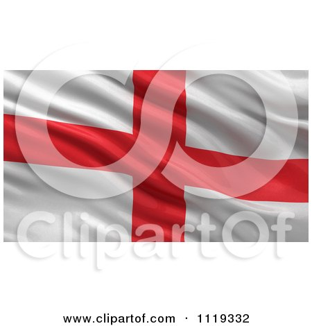 Clipart Of A 3d Waving Flag Of England Rippling And Waving - Royalty Free CGI Illustration by stockillustrations