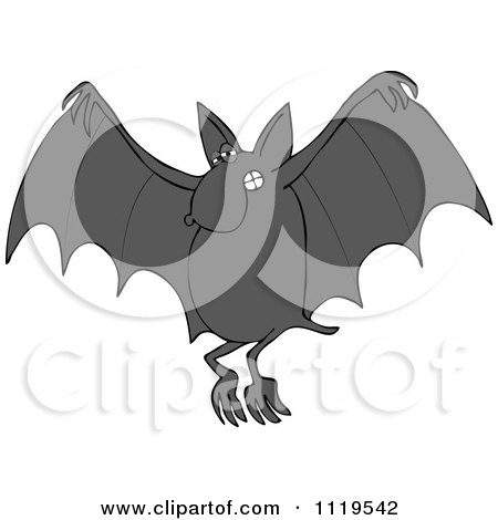 Cartoon Of A Flying Dog Bat - Royalty Free Vector Clipart by djart